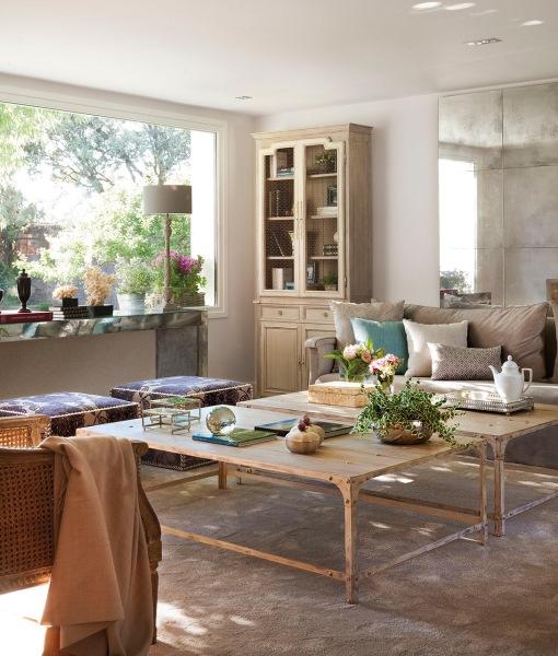 9-mobila lemn stil clasic amenajare living