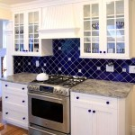 9-montaj faianta bleumarin cu latura de 10 cm in diagonala decor bucatarie alba