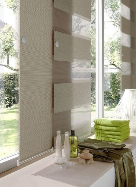 panouri textile suprapuse protectie ferestre