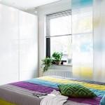 9-perdea alba si panou japonez decor modern fereastra dormitor renovat