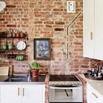 9-perete finisat cu caramida aparent decor bucatarie accente rustice
