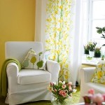 9-pereti culoare galbena accesorii vernil si mobila alba living