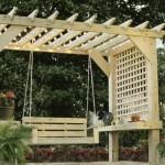 9-pergola din lemn cu leagan decor gradina
