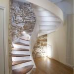9-piatra naturala aspect brutal decor perete scara interioara design modern