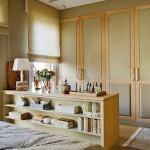 9-rafturi etajera dormitor matrimonial tonuri de bej si gri