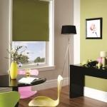 9-rolete din panza culoare vernil decor ferestre living modern