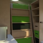9-scara glisanta din lemn acces pat mansardat interior casa mica 15 mp