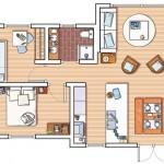 9-schita plan apartament 3 camere mic 47 metri patrati