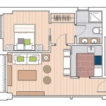 9-schita plan compartimentare apartament mic cu doua camere