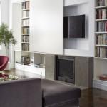 9-semineu integrat in biblioteca cu televizor din living