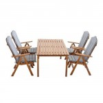 9-set mobilier pentru terasa si gradina Stranda maro magazin eMAG