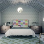 9-tablie multicolora pentru capul patului Noyo Home