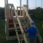 9-testarea scarii din lemn cu balustrada