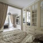 9-vedere din dormitor apartament modern art deco de 29 mp