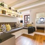 9-vedere din living spre dormitor apartament mic cu doua camere suprafata 20 mp