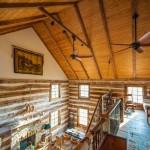 9-vedere din mansarda spre parter han vechi din lemn de nuc restaurat si transformat in casa rustica