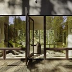 9-vedere din terasa spre living si bucatarie open space casa moderna 88 mp fara etaj