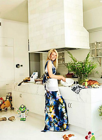Gwyneth Paltrow in bucatarie