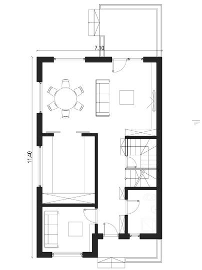 Proiect casa plan parter
