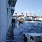 alee Mica Venetie Mykonos inundata de valurile marii