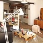 amenajare apartament mic open space stil loft
