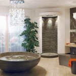 amenajare baie moderna lux piatra decorativa