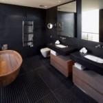 amenajare baie moderna neagra lux