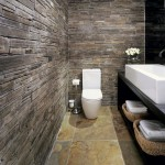 amenajare baie moderna piatra naturala rustica