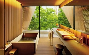 amenajare baie moderna stil asiatic minimalist