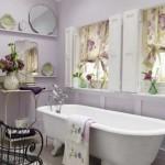 amenajare baie stil clasic lila deschis