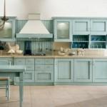 amenajare bucatarie stil clasic mobila culoare bleu