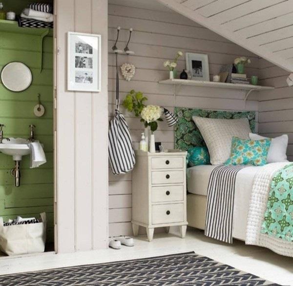 amenajare dormitor frumos mansarda