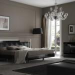 amenajare dormitor masculin negru si gri