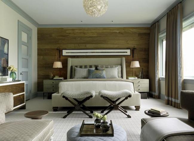 amenajare dormitor modern alb bej