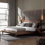 amenajare dormitor modern minimalist nuante gri