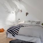 amenajare dormitor stil scandinav mansarda