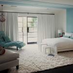 amenajare dormitor superb alb si bleu