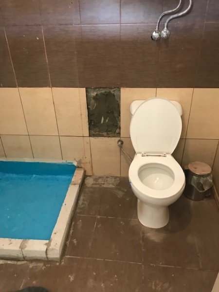 amenajare in lucru baie