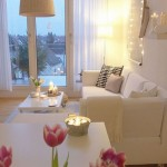 amenajare living alb apartament mic