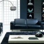 amenajare living minimalist asiatic alb si negru