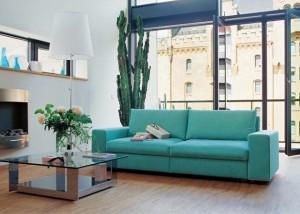 amenajare living modern bleu