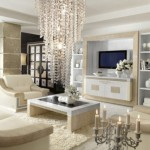 amenajare living modern mobila alba