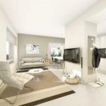 amenajare living scandinav minimalist