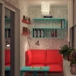 amenajare loc de lectura in balcon mic garsoniera sau apartament