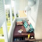 amenajare loc de relaxare in balcon mic si ingust apartament sau garsoniera