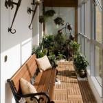 amenajare mini gradina de iarna pentru plante balcon mic