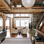 amenajare sufragerie rustica moderna