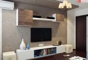 ansamblu modular amenajare living modern 15 mp cu mobila alba