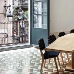 apartament barcelona pardoseala mozaic triunghiular