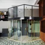 apartament modern barcelon pardoseala mozaic triunghiular
